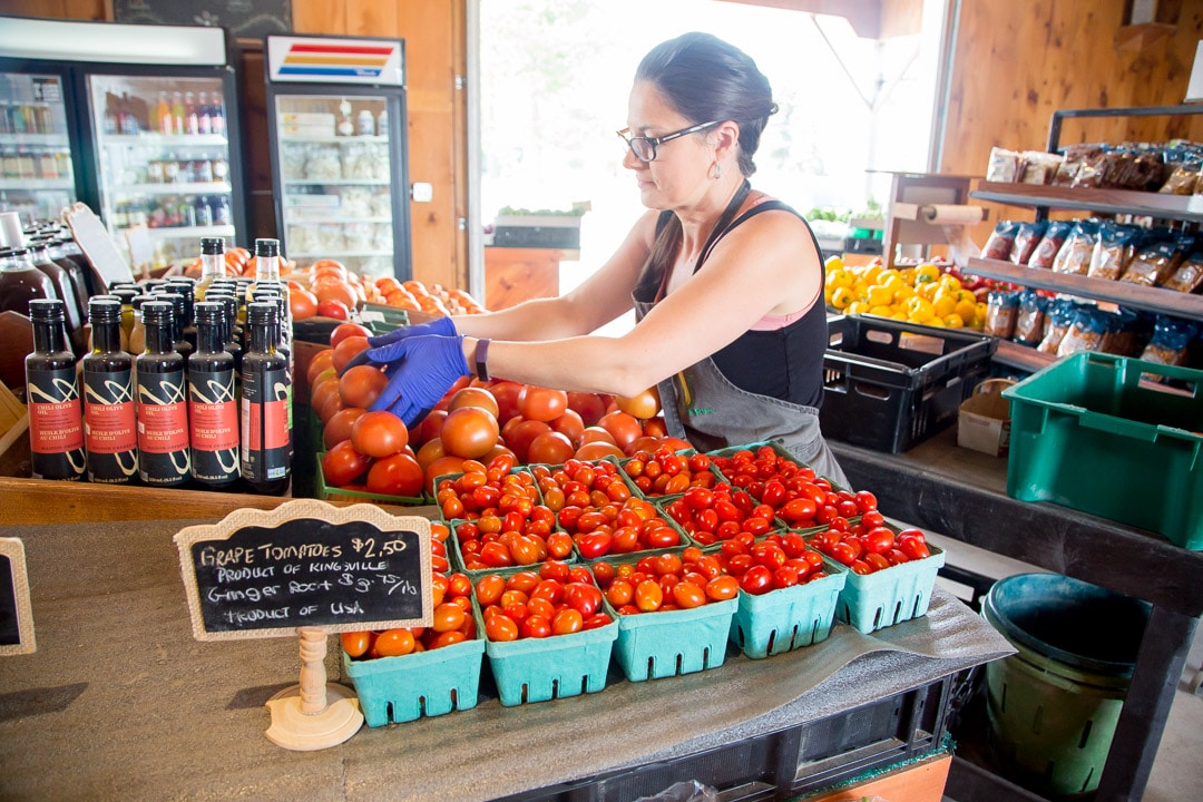 Tomatoes in the farm market