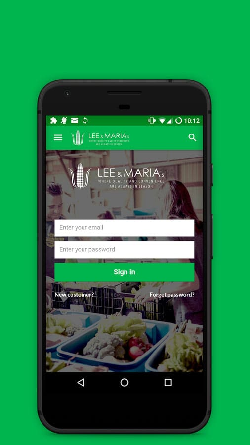 Lee and Maria's online grocery shopping app