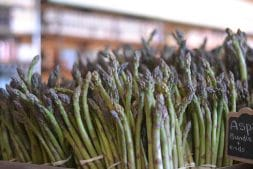 Asparagus on display at Lee & Maria's