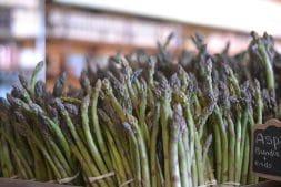 Asparagus on display at Lee & Maria's