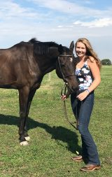 Kaylee Pillon with a horse