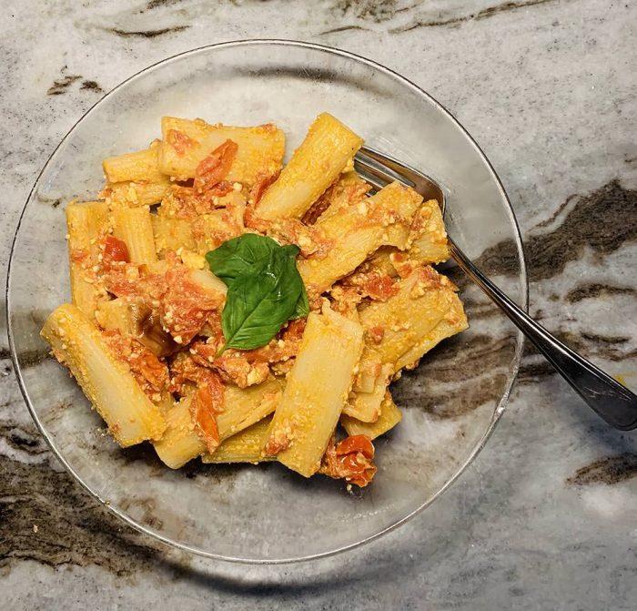 Feta Pasta TikTok Recipe Dish