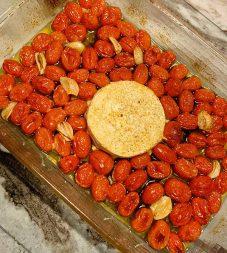 Feta Pasta Grape Tomatoes Cooked