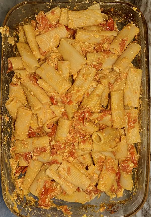 Feta Pasta Folded Together