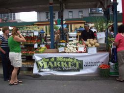 Lee and Maria's booth at Downtown Windsor Farmers Market 2014